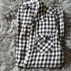 Flannel Checkered Long-sleeve Button Down